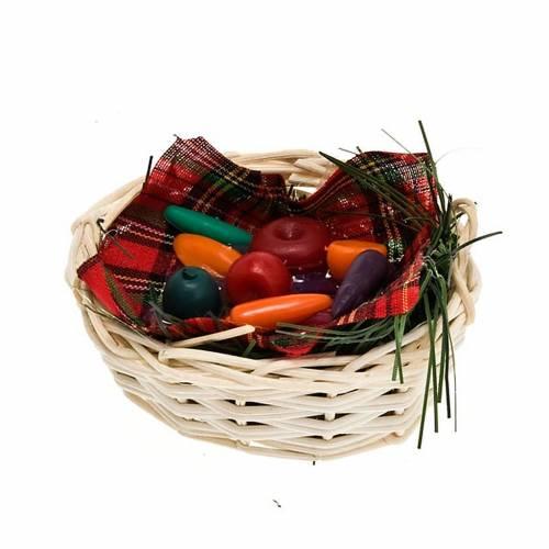 Nativity set accessory, vegetable basket s1