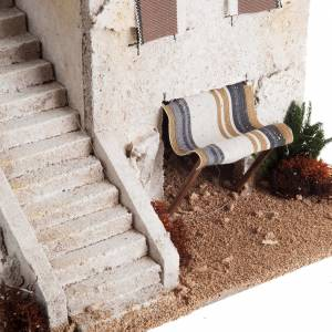 Nativity setting, Arabian house with stairs s3