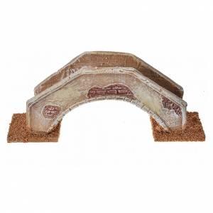 Nativity setting, bridge in terracotta 16x4x6cm s1