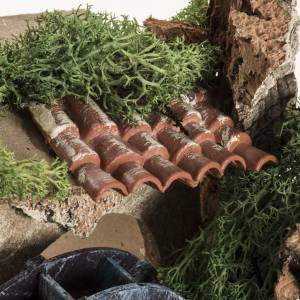 Nativity setting, electric water mill 18x24x18cm s7