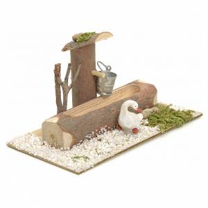 Fountains: Nativity setting, fountain in the log