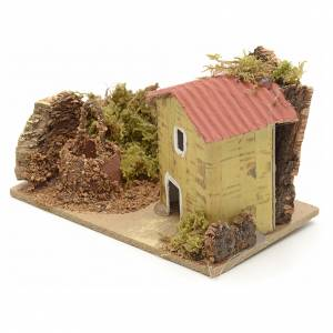 Nativity setting, house with well 10x6cm s2