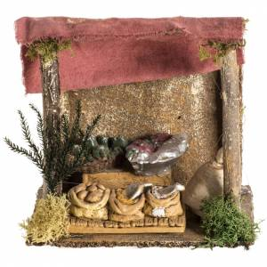 Nativity setting, shop with tent s1