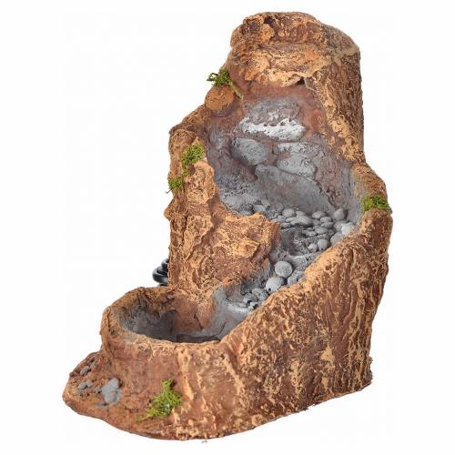 Nativity setting, stream in resin 21x26x18cm s1
