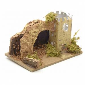 Nativity setting, tower with arch 10x6cm s2