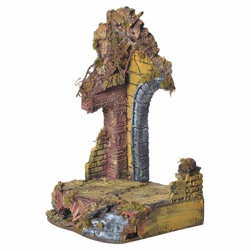 Nativity temple with arch measuring 20x20x40cm s2