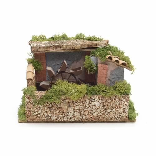 Nativity water mill with moss and lichen s1