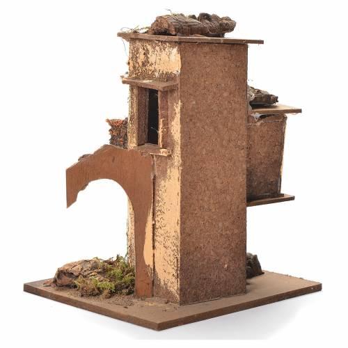 Neapolitan Nativity block of houses 26x20x19cm s3