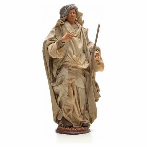 Neapolitan Nativity figurine, Arabian man with stick, 30 cm s4