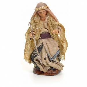 Neapolitan nativity figurine, Arabian woman with stick, 8cm s1