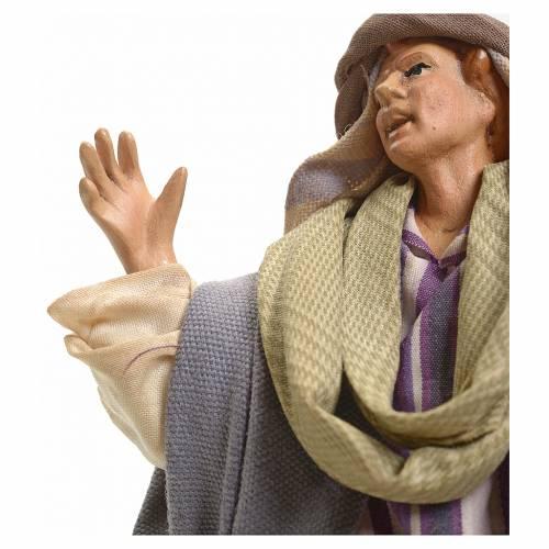Neapolitan Nativity figurine, astonished person, 18 cm s4
