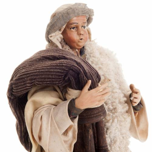 Neapolitan nativity figurine, bagpiper 18cm s2