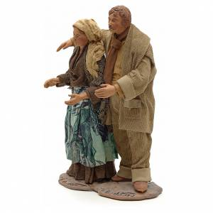 Neapolitan Nativity figurine, couple hugging, 24 cm s2