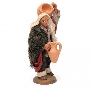 Neapolitan Nativity figurine, man carrying amphora, 10 cm s4