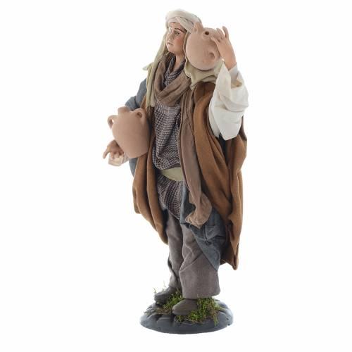 Neapolitan Nativity figurine, man with amphorae 30 cm s2