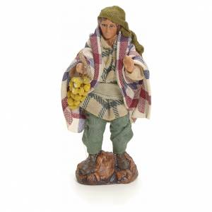 Neapolitan Nativity figurine, man with grapes, 8 cm s1