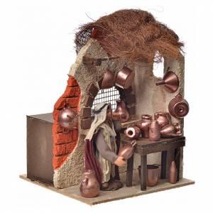Neapolitan Nativity figurine, moving copper smith, 10 cm s2