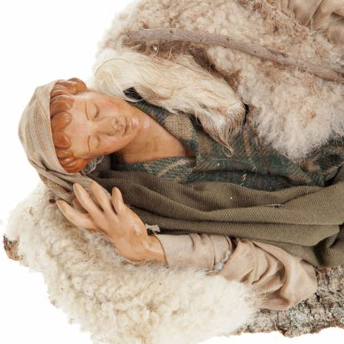 Neapolitan nativity figurine, resting traveler 30cm s2