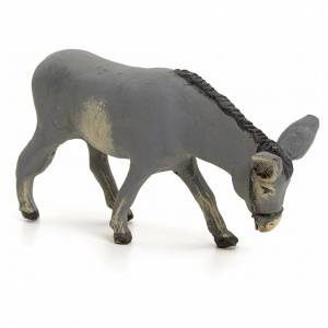 Neapolitan nativity figurine, standing donkey, 8cm s2