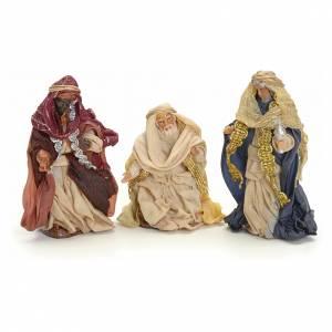 Neapolitan Nativity figurine, three Kings, 8 cm s1