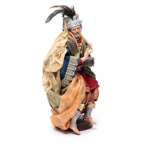 Neapolitan Nativity figurine, three wise kings, 45 cm s7