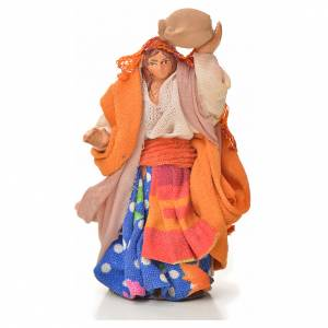Neapolitan Nativity figurine, woman with amphora, 6 cm s1