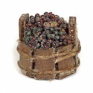 Neapolitan Nativity scene accessory, black grapes tub s2
