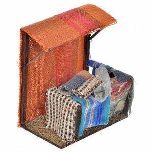 Neapolitan Nativity scene accessory, carpet stall 10x10x7cm s2