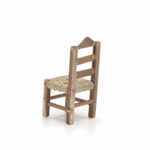 Neapolitan Nativity scene accessory, chair 6cm s2