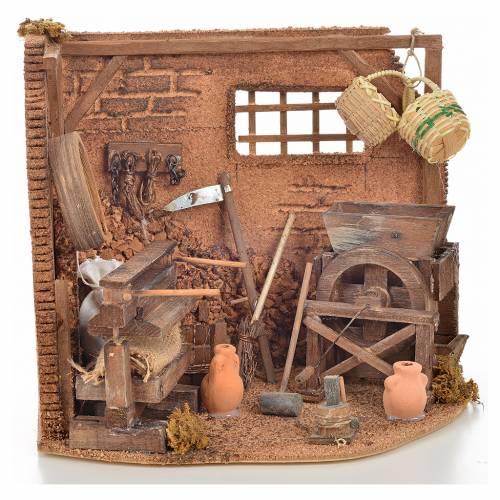 Neapolitan Nativity scene accessory, farmer shop s1