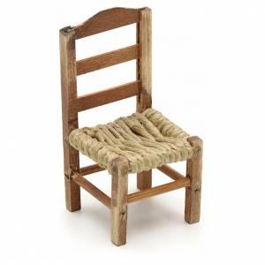 Neapolitan Nativity Scene: Neapolitan Nativity scene accessory, medium chair 8cm