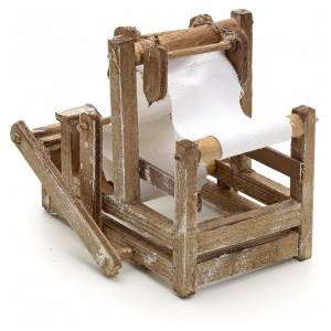Neapolitan Nativity scene accessory, wooden treadle loom s3
