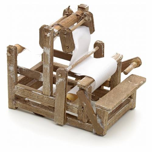 Neapolitan Nativity scene accessory, wooden treadle loom s1