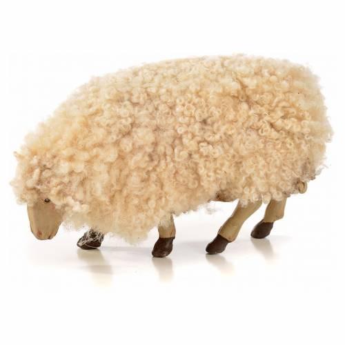 Neapolitan Nativity scene figurine, kit, 3 sheep with wool 18 cm s3