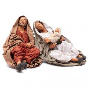 Neapolitan Nativity Scene: Neapolitan nativity scene Holy Family new povera 30 cm