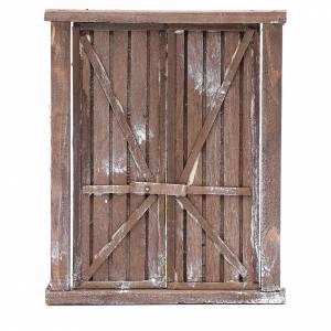 Neapolitan Nativity Scene: Neapolitan nativity scene  door with 2 shutters 15x15 cm