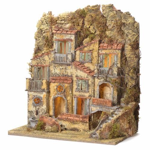 Neapolitan Nativity village with fountain 45x50x30 s3