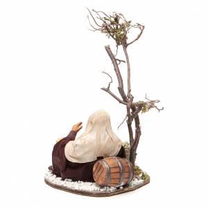 Negociante con bolsa de semillas y árbol 24 cm belén de Nápoles s3