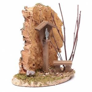 Nicchia con crocifisso e roccia 15x15x10 cm s3