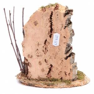 Nicchia con crocifisso e roccia 15x15x10 cm s4