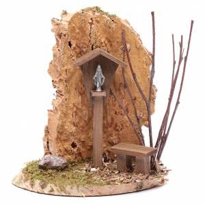 Casas, ambientaciones y tiendas: Nicho con crucifijo y roca 15x15x10 cm