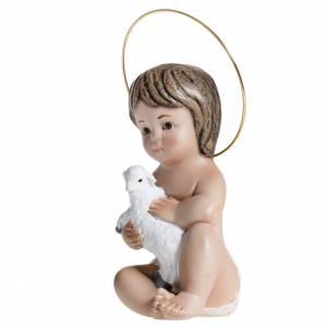 Niño Jesús con cordero  de yeso 20cm s3