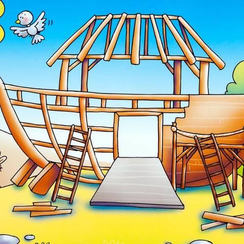 Noé et la grande arche avec beaucoup d'aimants ITA s2