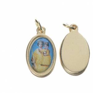 Medals: Notre Dame de Grace medal in golden metal, 1.5cm