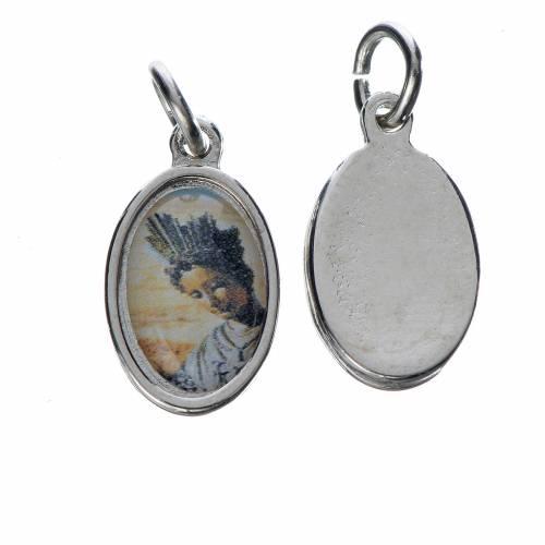 Notre Dame de la Salette medal in silver metal, 1.5cm s1