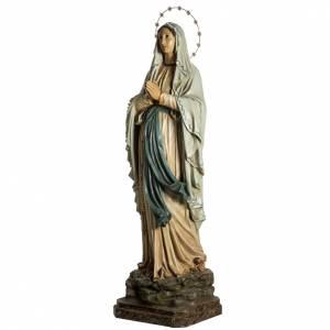 Notre Dame de Lourdes pâte à bois yeux en cristal s7