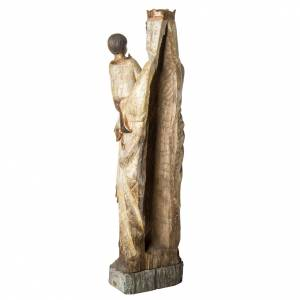 Notre Dame du Lyonnais 120 cm bois ancien Bethléem s4