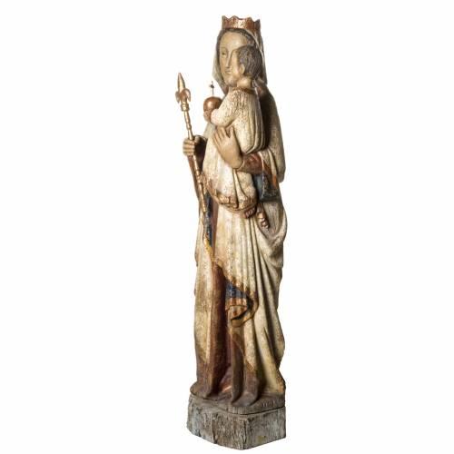 Notre Dame du Lyonnais 120 cm bois ancien Bethléem s3