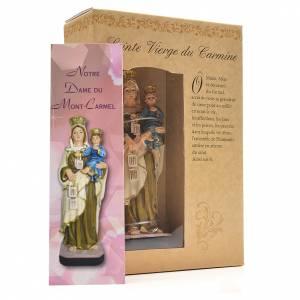 Notre Dame du Mont Carmel 12cm image et prière en Français s3