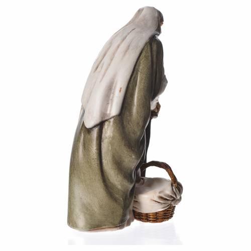 Old lady with walking stick, nativity figurine, 13cm Moranduzzo s2